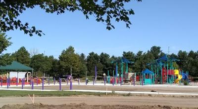 Inclusive playground nearing completion