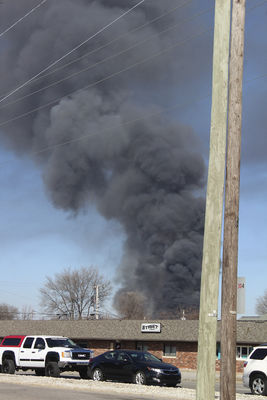 Fire destroys Forest River plant