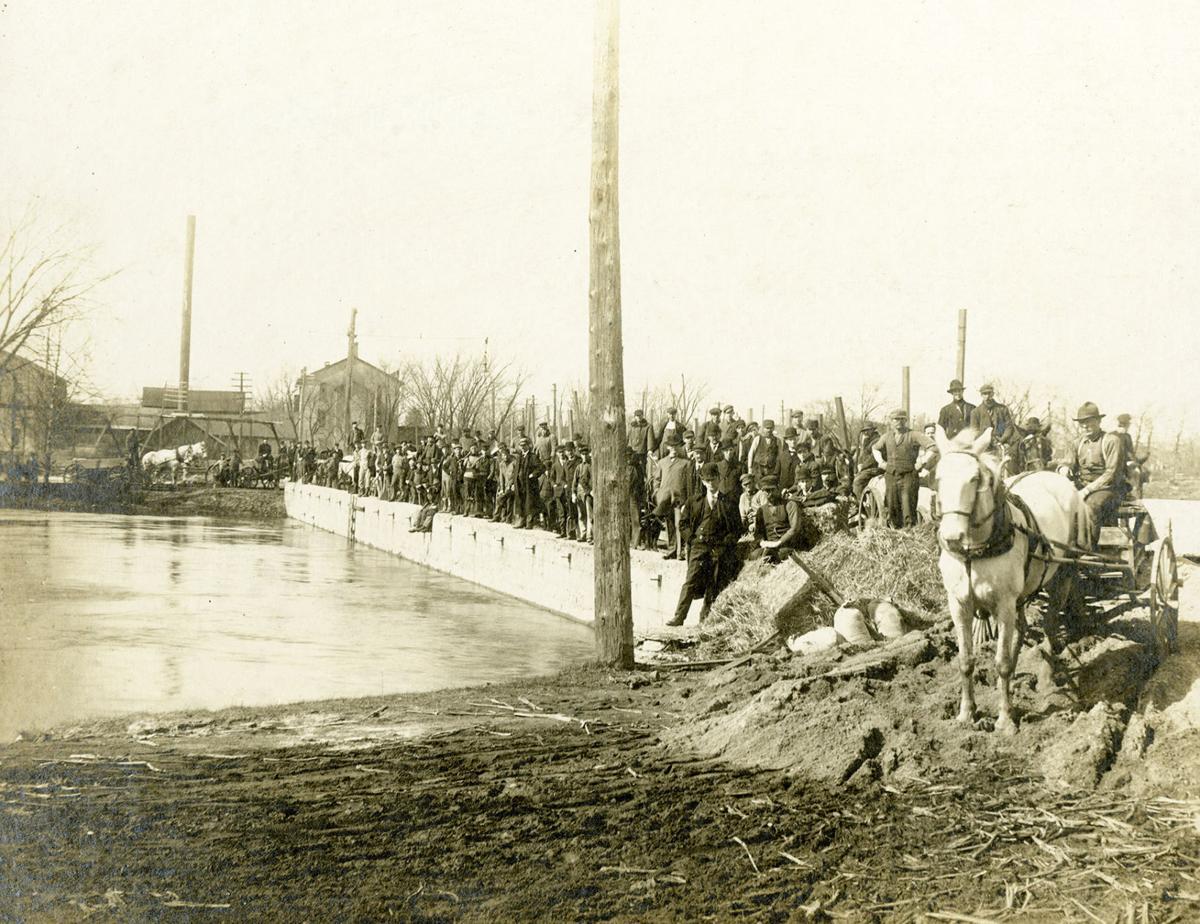 Construction of Johnson Street dam 1912 copy