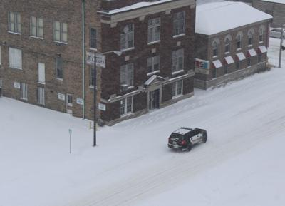 Police in snow