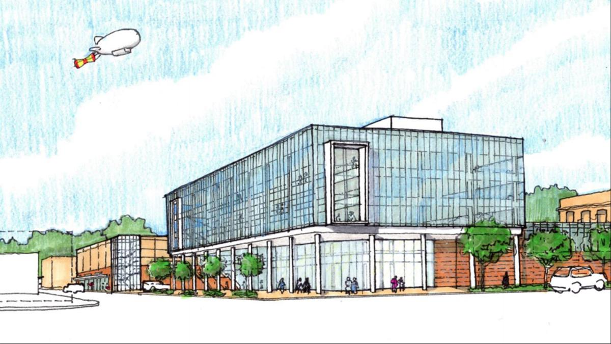 County Courts and Elkhart Public Safety building rendering