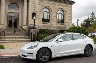 Goshen buys first electric vehicle