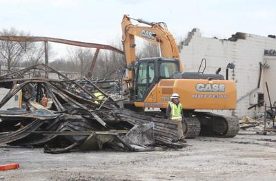 Heavy equipment in use in Forest River fire investigation