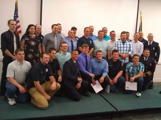 Fire training grads recognized