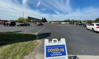 COVID-19 testing and vaccine clinic, state-run Life Center Church Goshen 09-03-2021