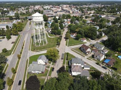 Benham Avenue water tower drone