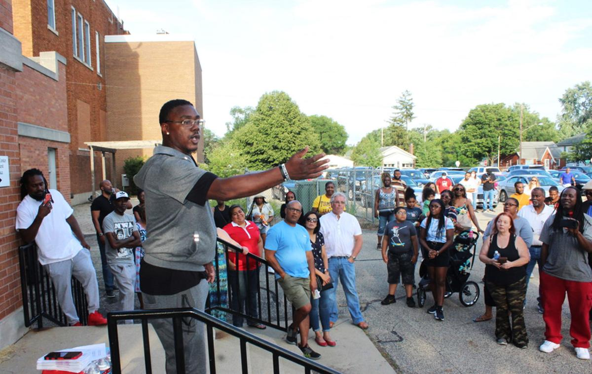Kendall McGee stop the violence rally 07-30-2021