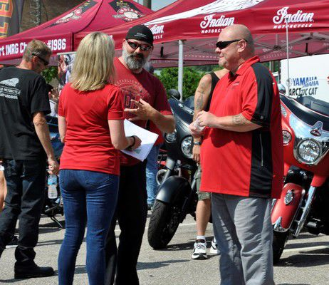 Motorcycle enthusiasts ride to Elkhart's Bike Night