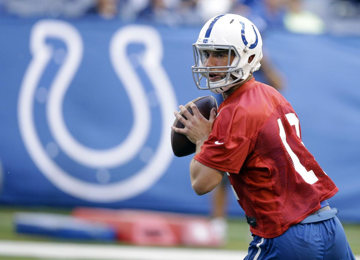 Irsay talks contract, Luck unveils new slide at practice
