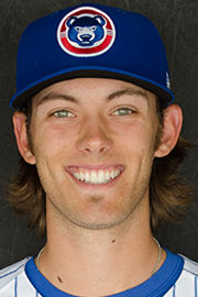South Bend Cubs pitcher Zach Hedges has a mean sense of focus on the mound