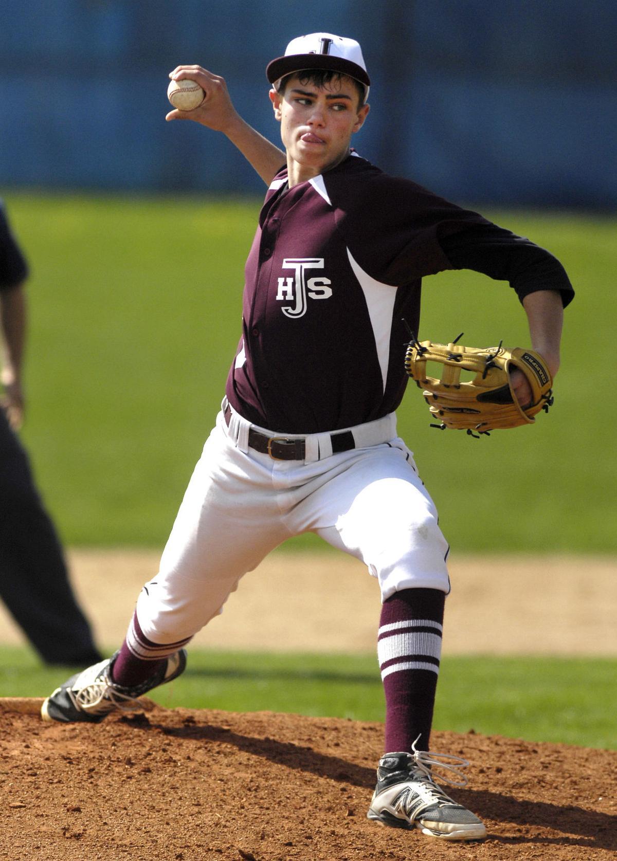 Jimtown's Nick Floyd flings the baseball with purpose