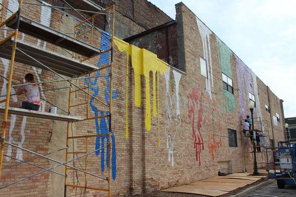 Student mural marks jazz history