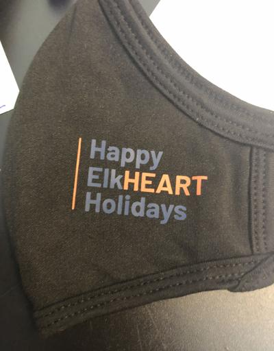 Happy ElkHEART Holidays mask