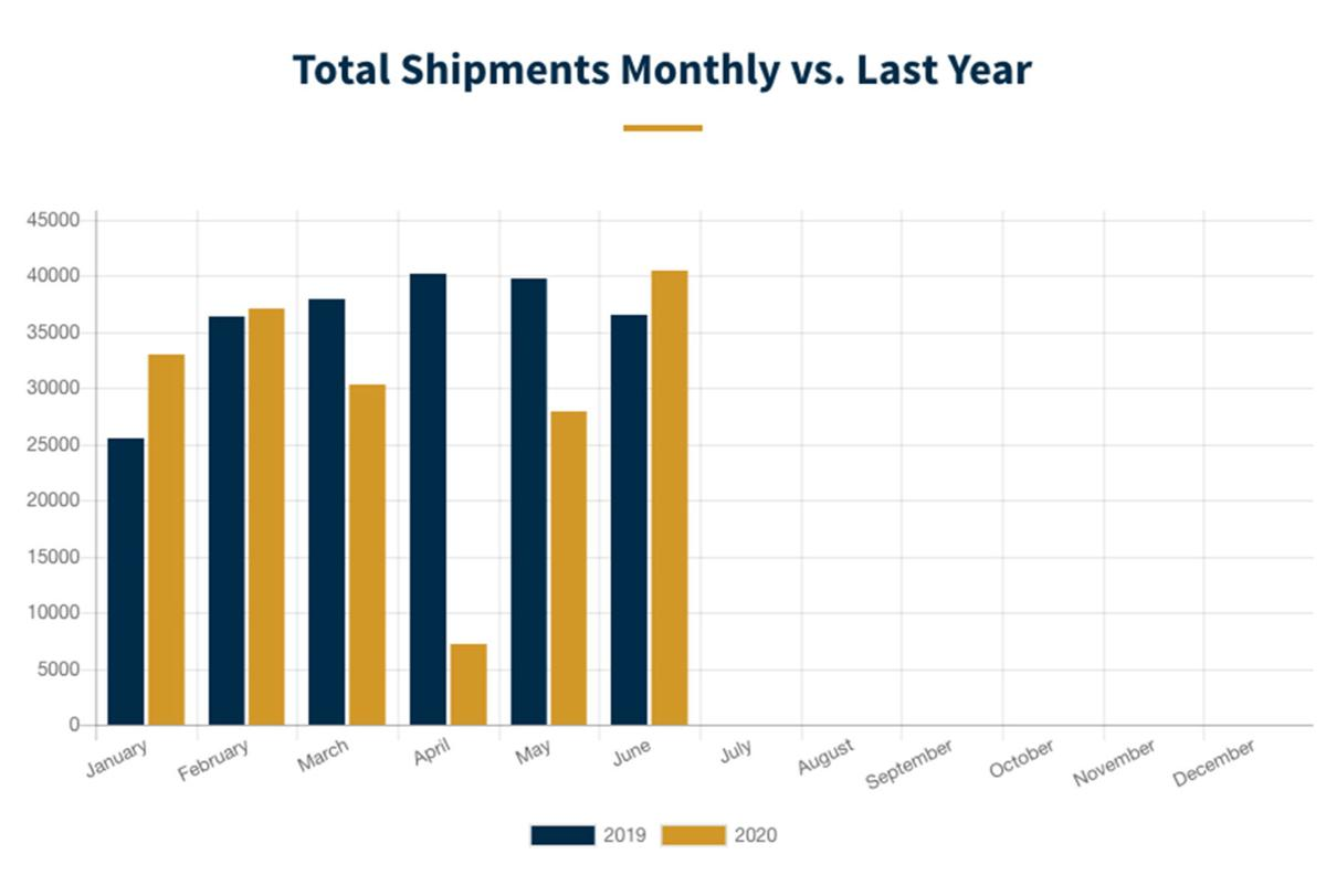 June 2020 RV shipment graph
