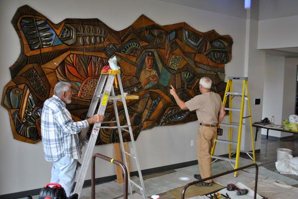 Historic mural housed at ETHOS