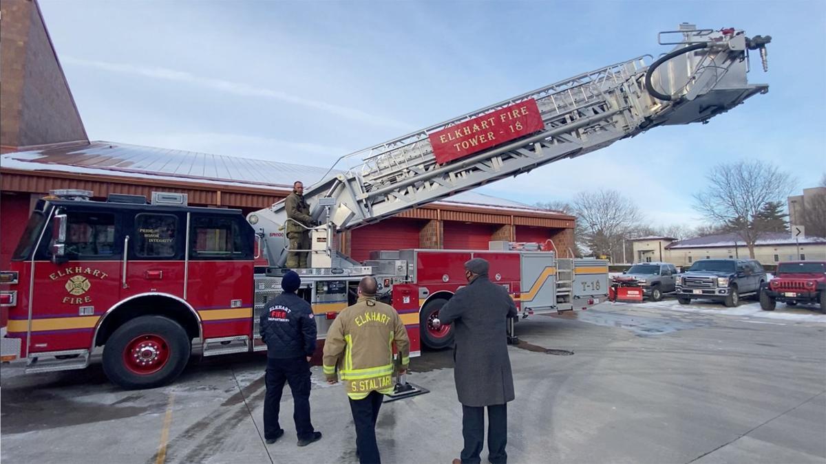 Mayor Roberson, Nick Hintz fire truck ride-along 2