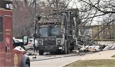 Garbage truck explodes outside school
