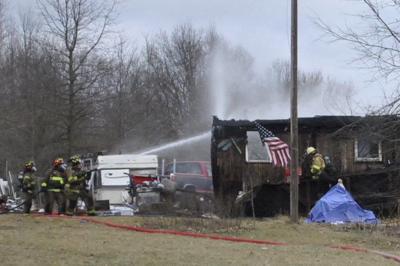 Fire destoys home near county line