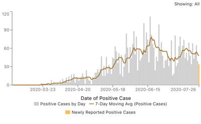 Elkhart County COVID-19 cases July 27