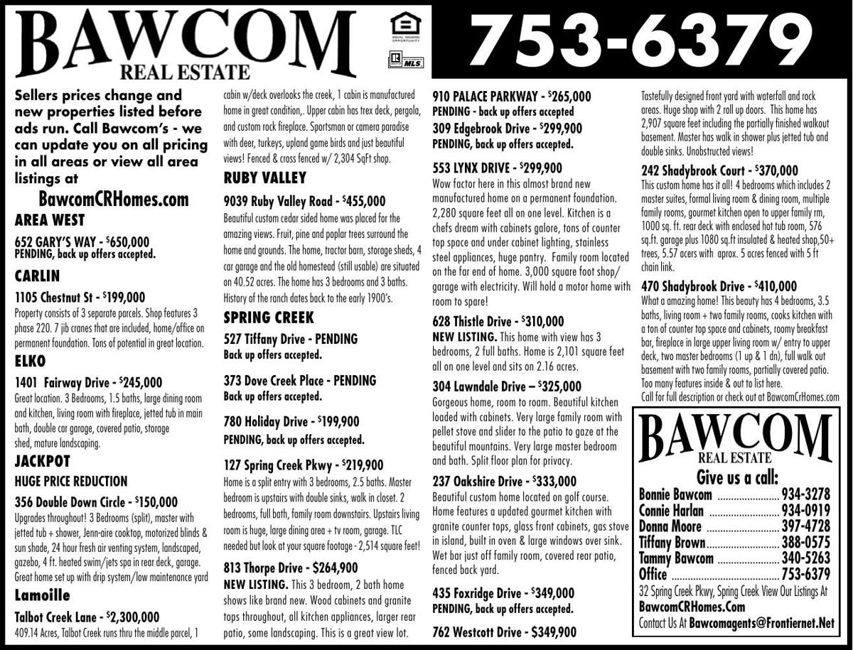 BAWCOM REAL ESTATE/ROP - Ad from 2019-03-30