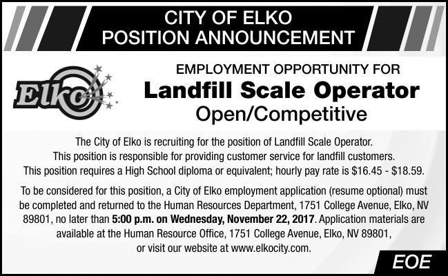 Landfill Scale Operator