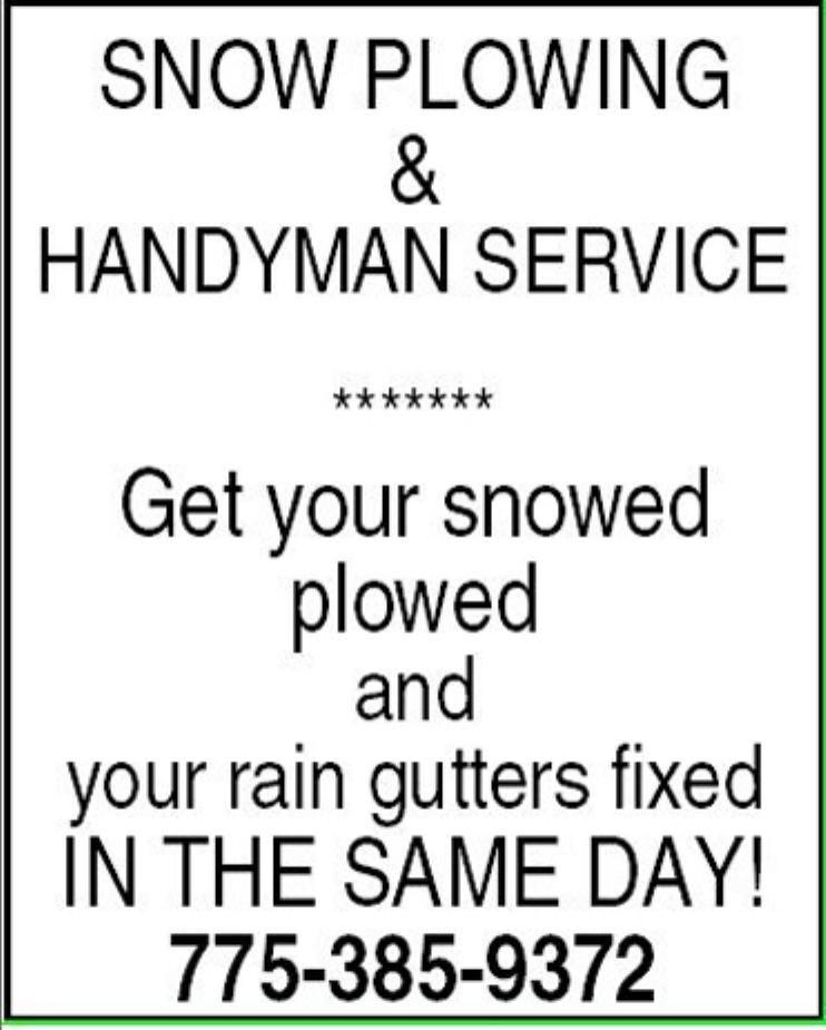 Snow Plowing & Handyman Service