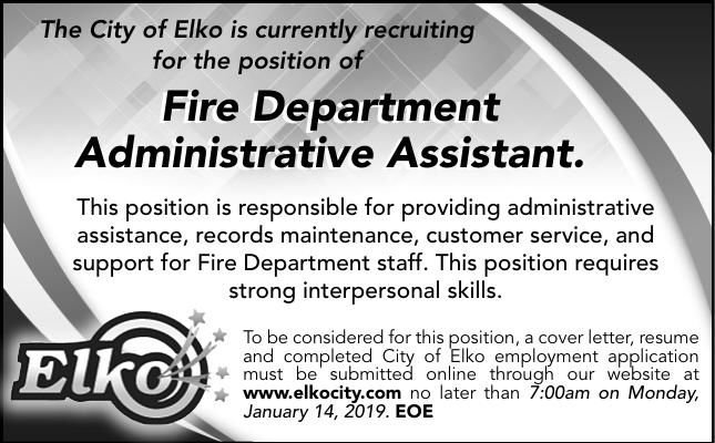 Fire Department Administrative Assistant