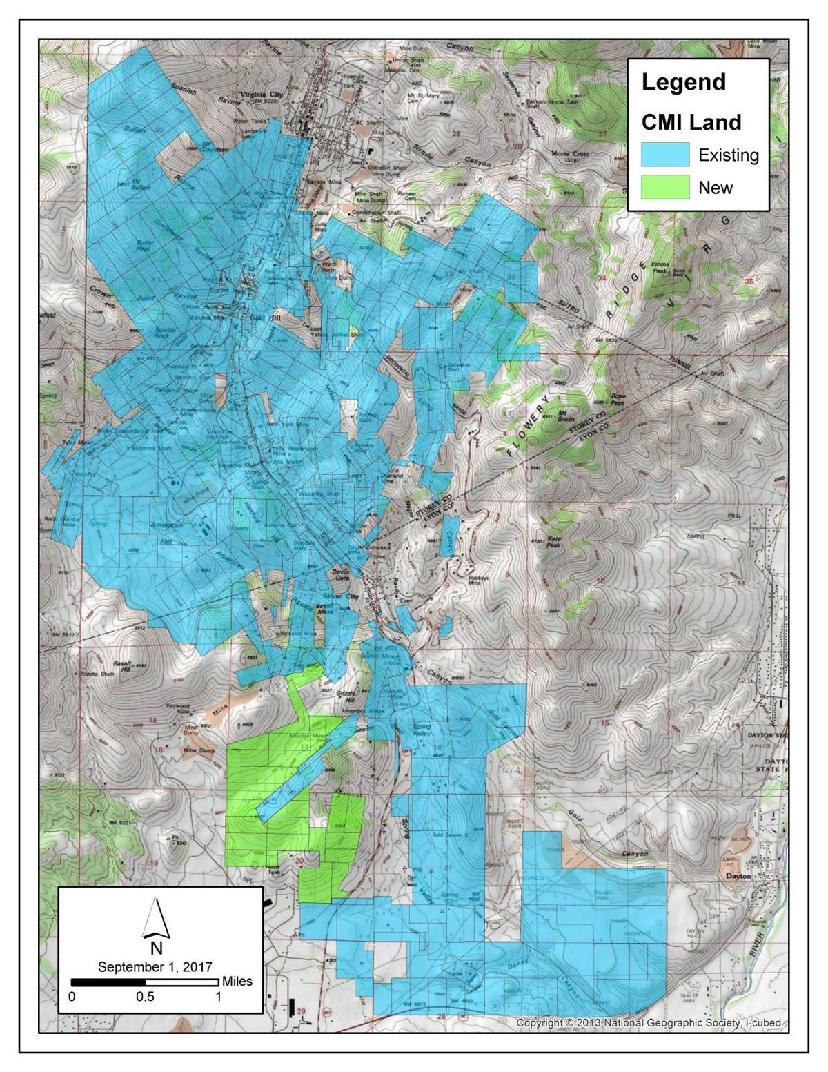 Comstock Mining Acquires 30 Lode Mining Claims