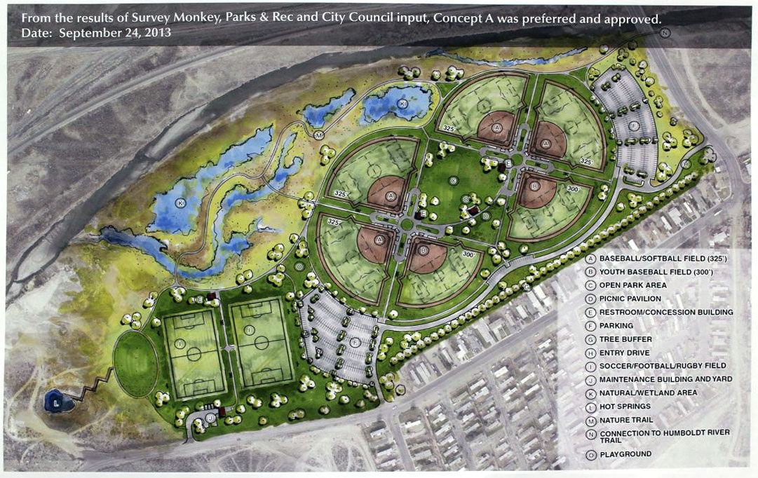 City to decide on location of sports park local for Sports complex planning design