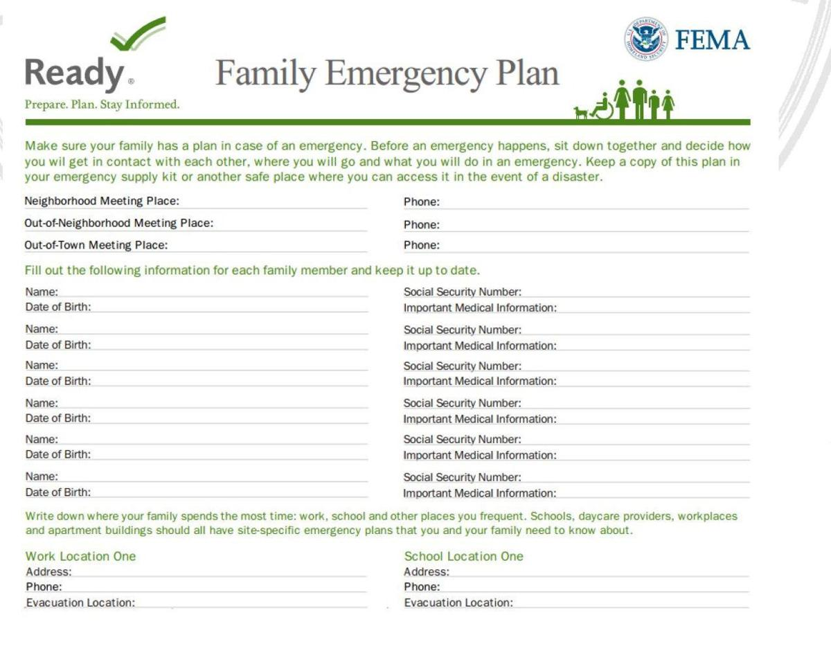 September is national preparedness month nevadans urged for Family fire safety plan