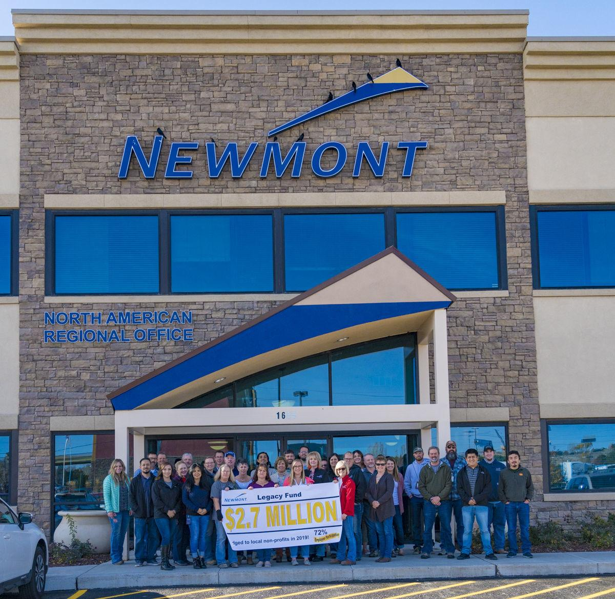 Newmont Legacy Fund 2019 pledges and match total $2.8M
