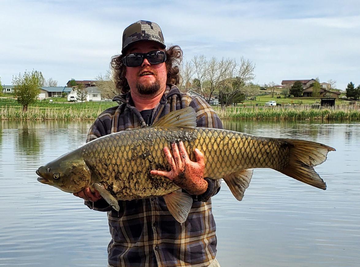 Cory Turner with big carp