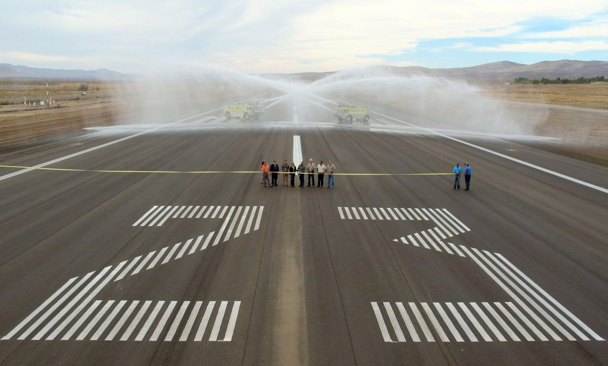 Runway ribbon cutting