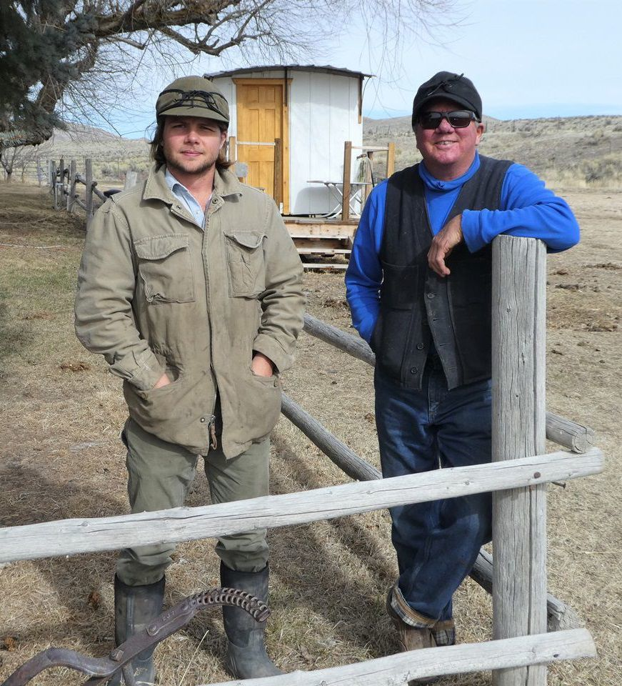 Andrew and Peter Church at the Keddy Ranch