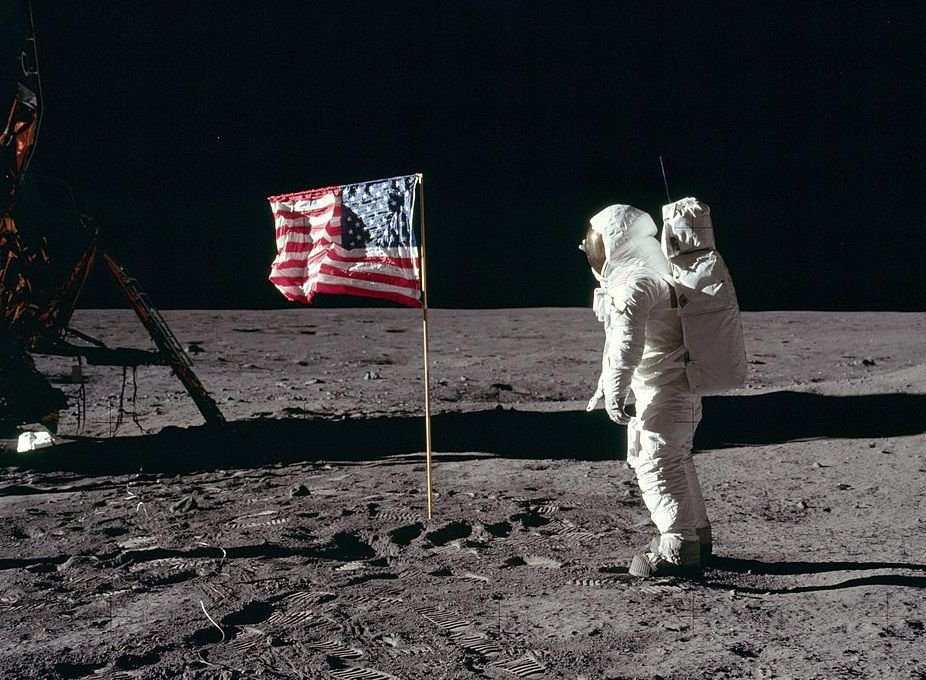 First flag on the moon