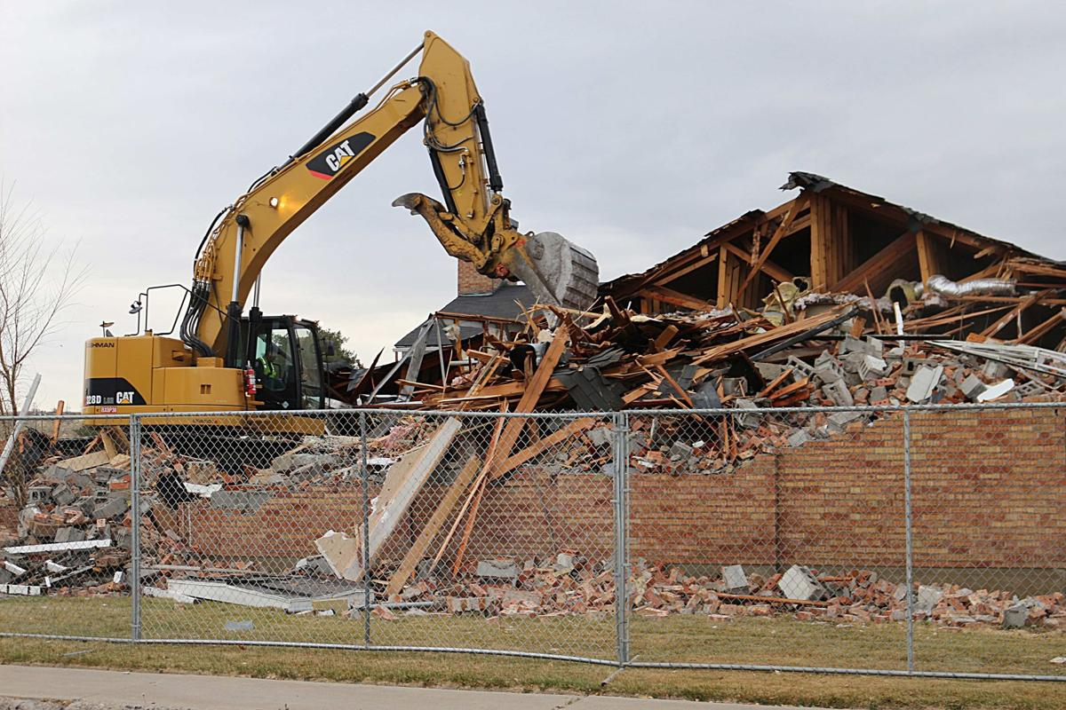 The old Elko Police Department comes down