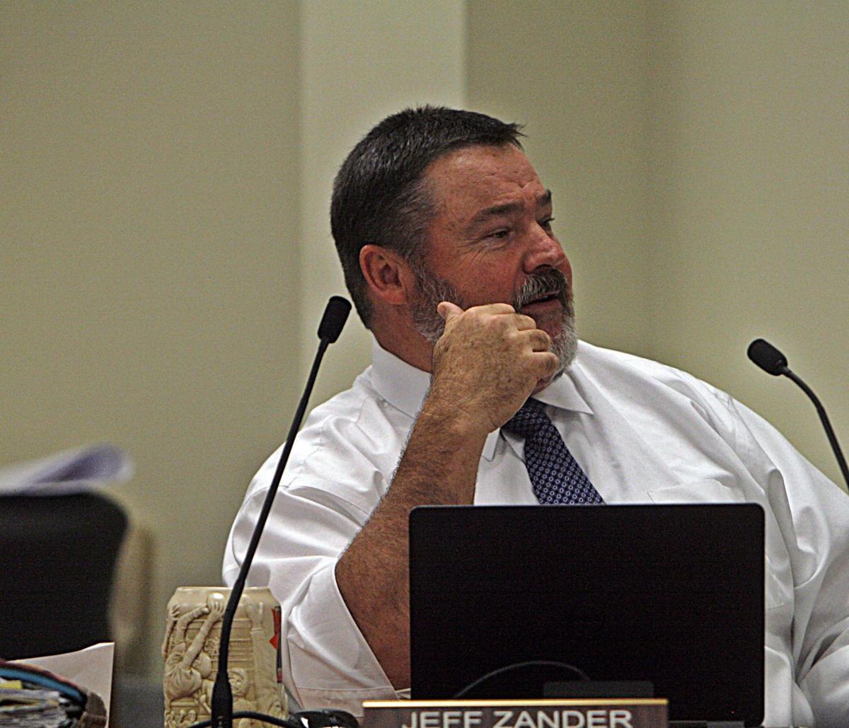 Jeff Zander at school school board meeting Sept 27.