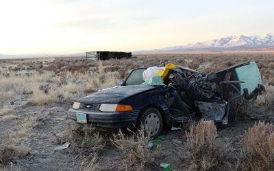 Wells woman killed when car rear-ended by semi