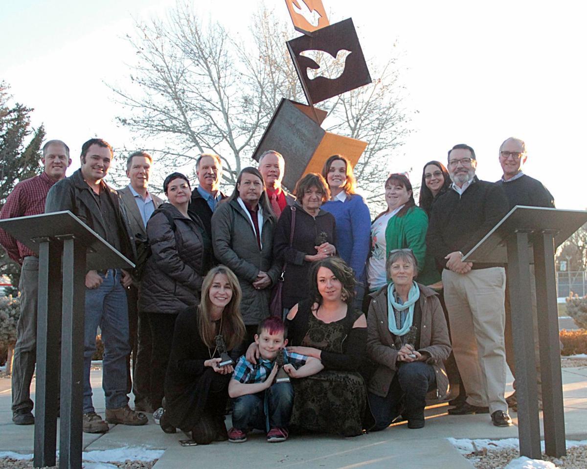 Mayor's Arts Awards recipients and city officials