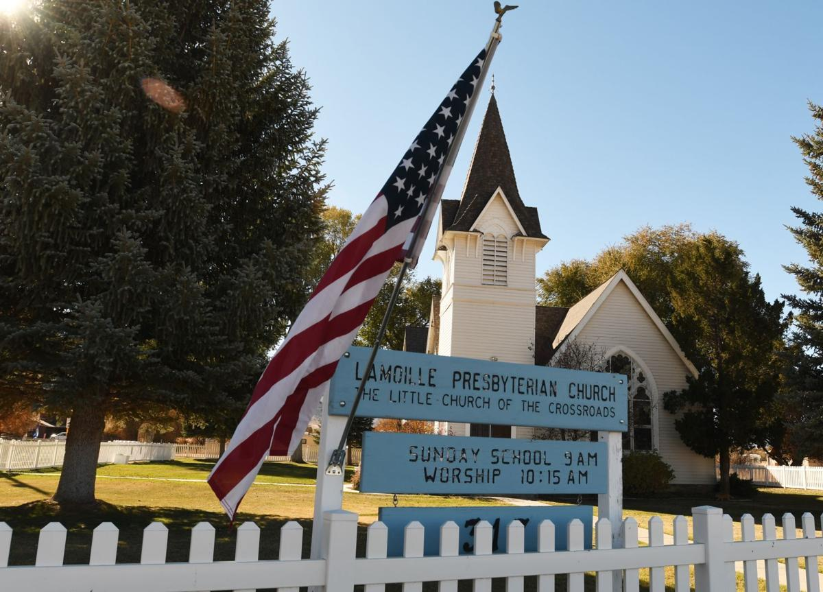Flags in Lamoille for Veteran's Day