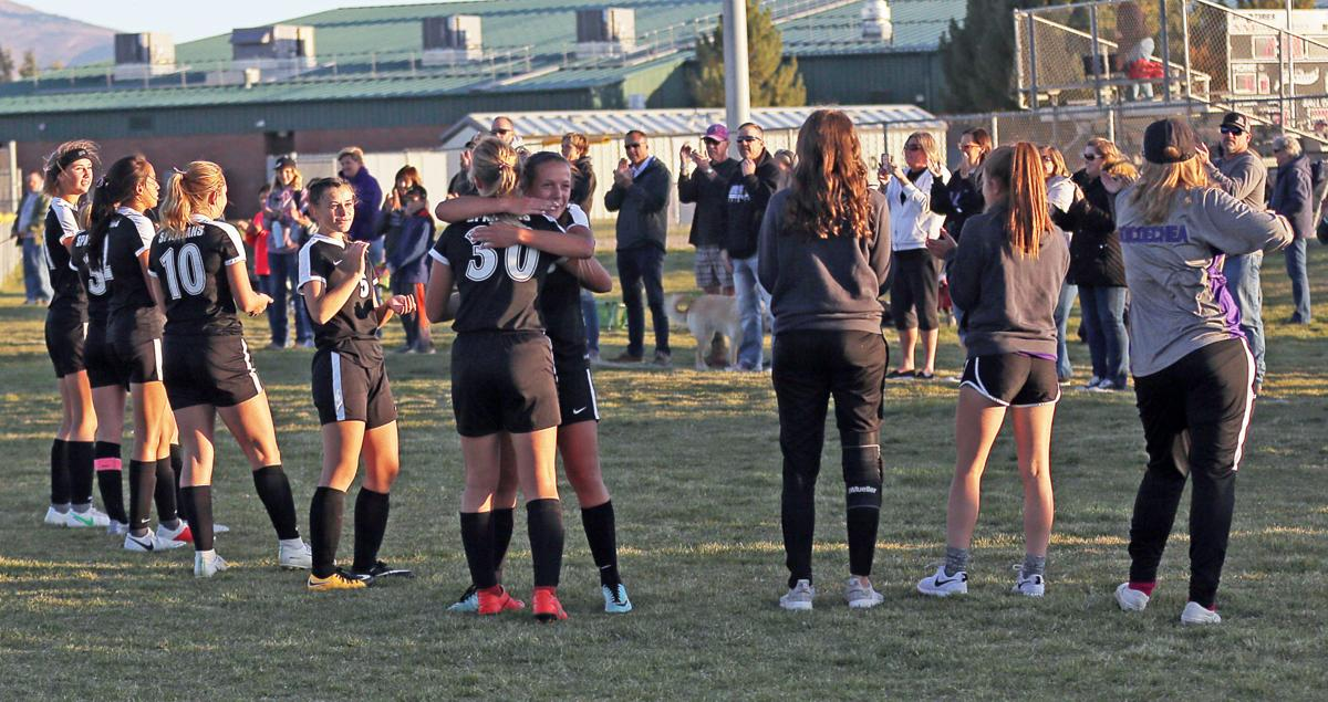Spring Creek Girls Soccer after 2-1 win over Truckee