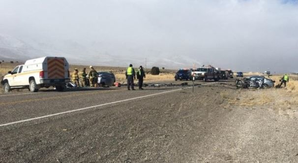 Crash south of Wells