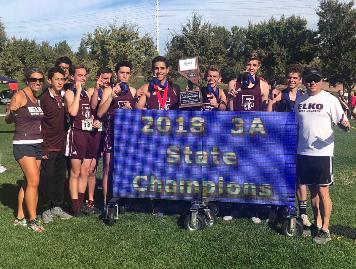 Elko boys 3A state cross country champions