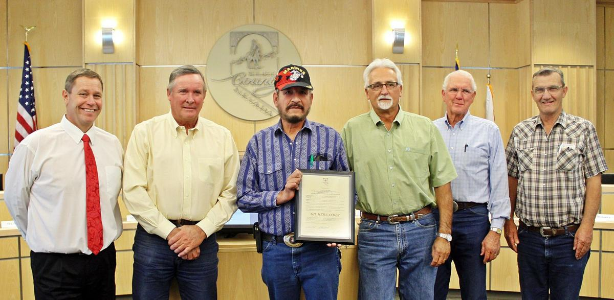County proclamation on Wounded Hero project