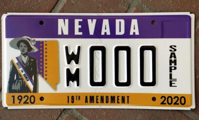 NCW - suffrage license plate
