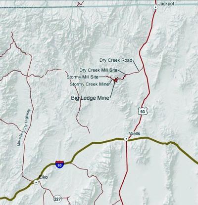 Big Ledge Mine map