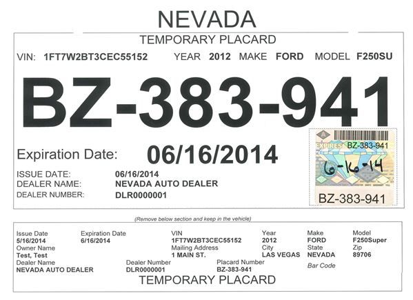 Car Dealer Tags Redesigned To Fight Fraud