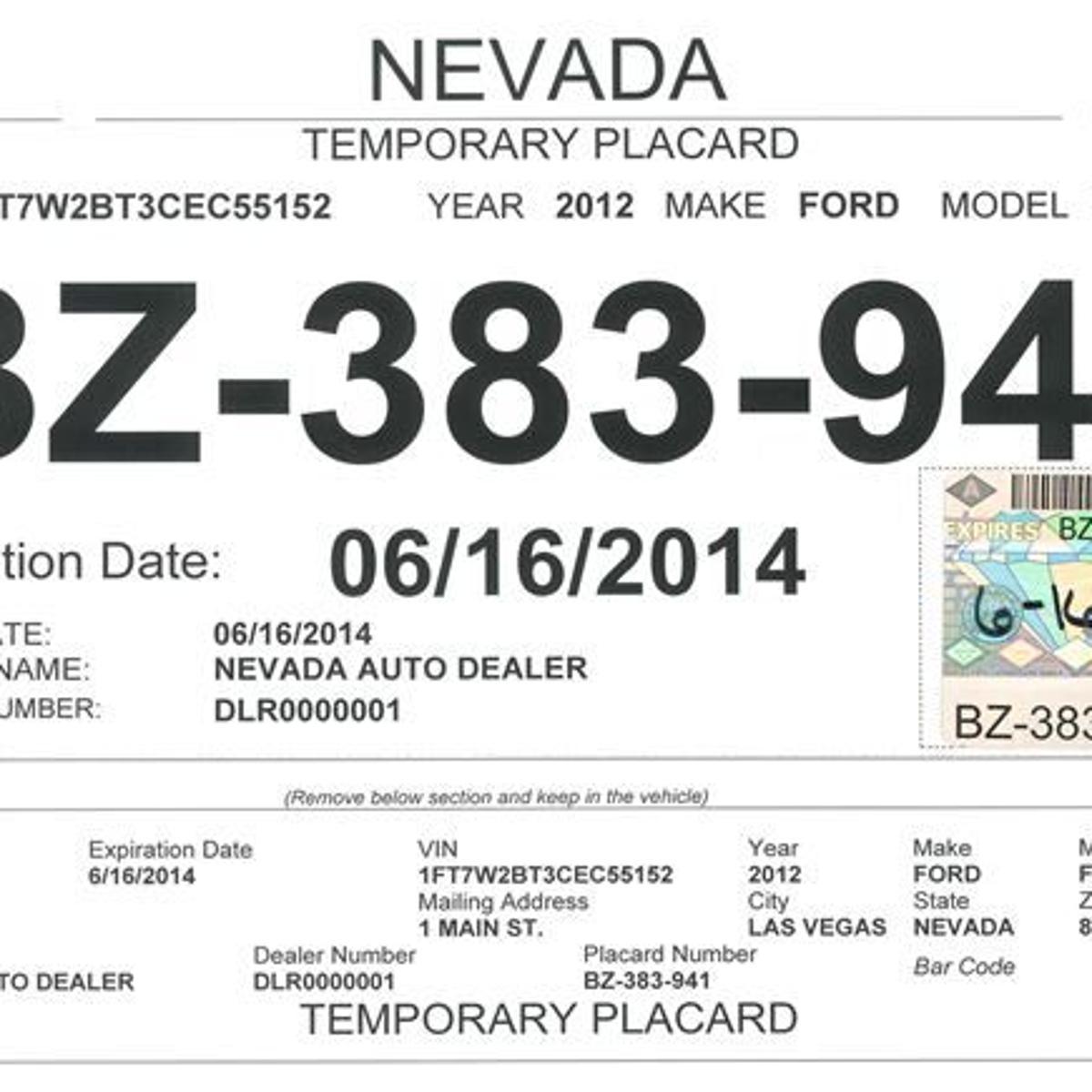 Car dealer tags redesigned to fight fraud   Business   elkodaily com