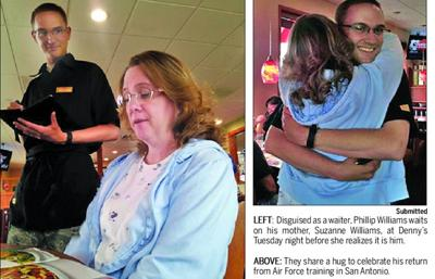 Son's homecoming surprises mom