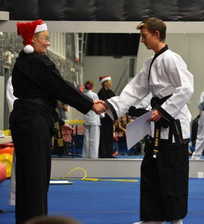 Chris Pope awarded black belt